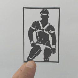 酷影像:传统剪纸艺术新诠释  释放男男肉体情欲