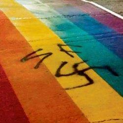 酷新聞:恐同人士突襲彩虹村 噴納粹標誌示威 引眾怒