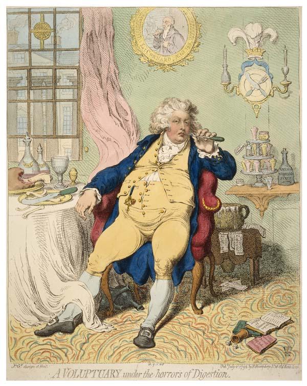a cartoon coloured caricature showing a Georgian prince