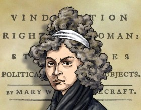 Mary Wollenstoncraft caricature