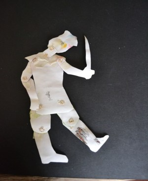 back of paper puppet