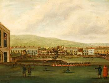 painting showing prelude to Merthyr Rising