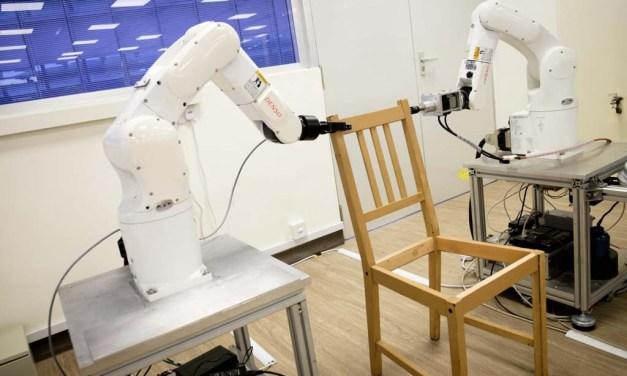 A robot by NTU Singapore autonomously assembles an IKEA chair
