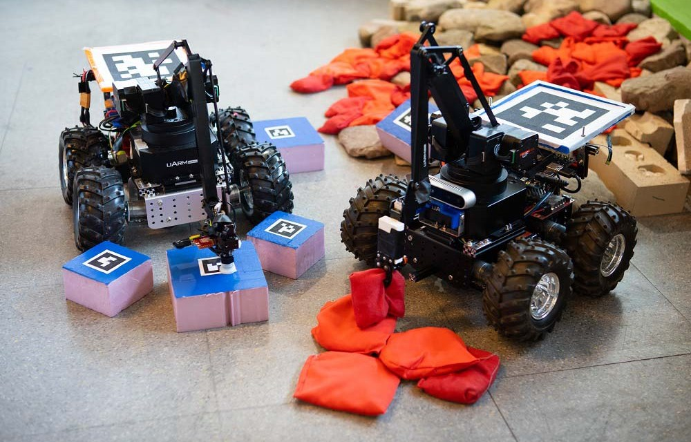 Like the state animal of New York, the rover-like vehicle uses surroundings to build complex structures, overcome obstacles