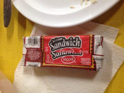an ice cream sandwich....