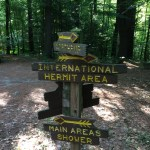 Camp direction signs.