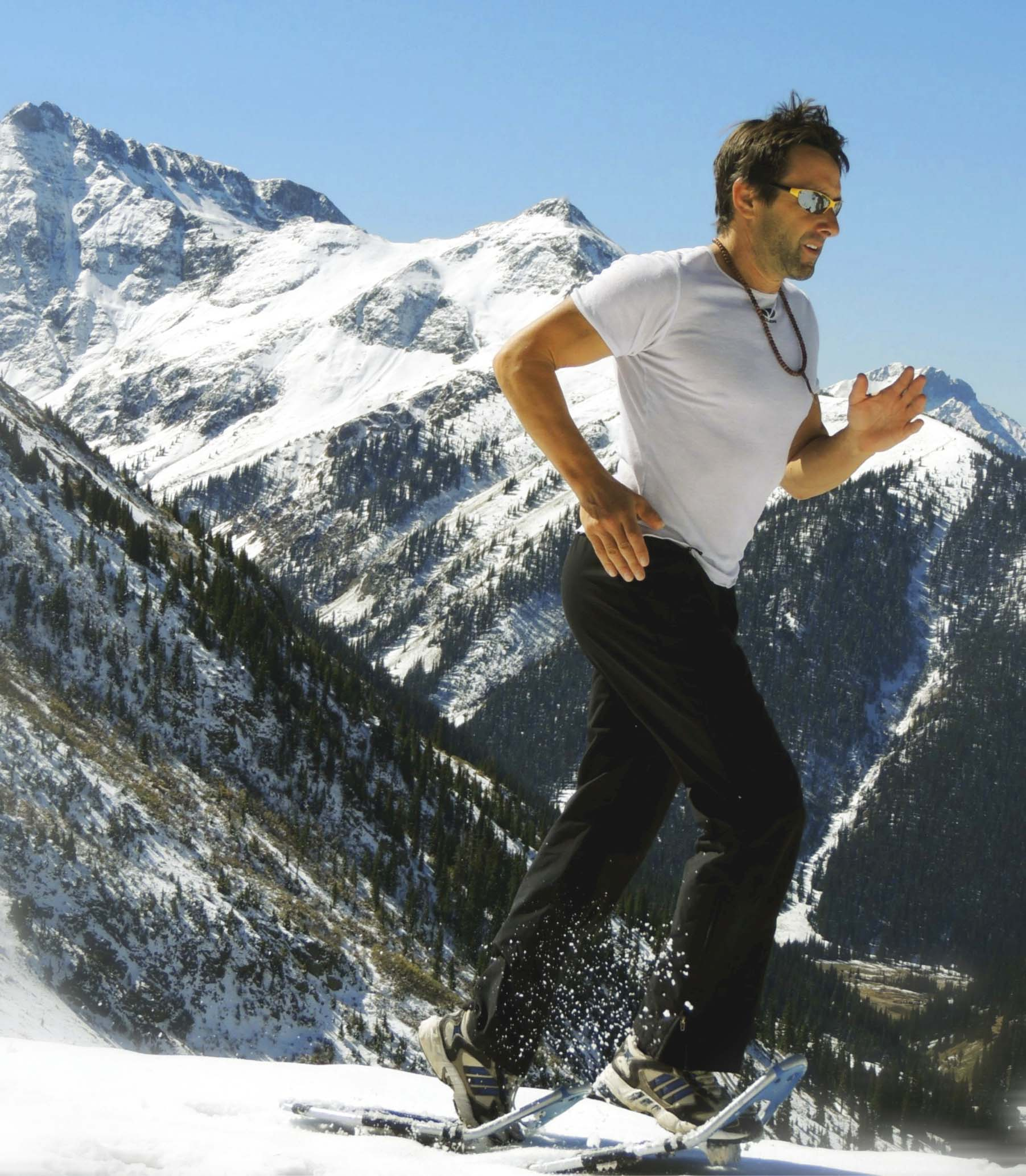 Steve Ilg snowshoe training at altitude