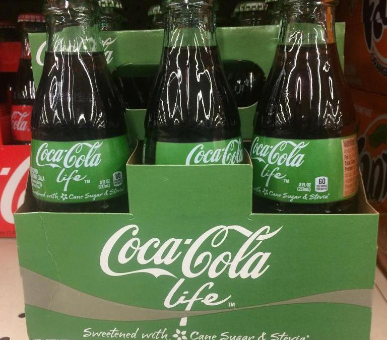 Coke life – Stevia in der Cola senkt Zuckeranteil – exklusiv bei Agethen