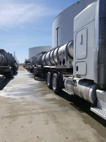 Truck offloading Juice at Nampa Tasco