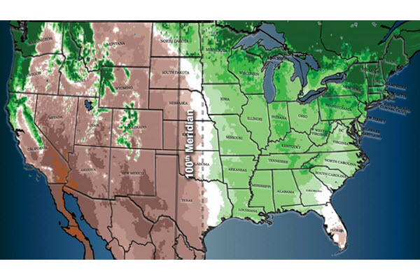 Climate Change Could Be Pushing The Great Plains Into The Midwest - Us-map-great-plains