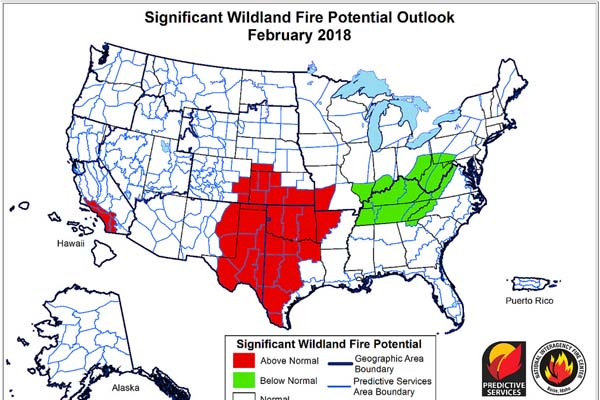 Wildland Fire Potential High in Central & Southern Plains – Kansas ...
