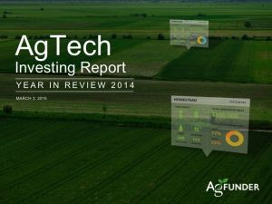 AgFunder AgTech Investing Report