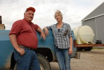 Karen Chapman with Fred Yoder, an Ohio farmer and former president of the National Corn Growers Association