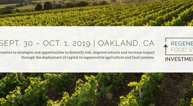 Regenerative Food Systems Investment Forum