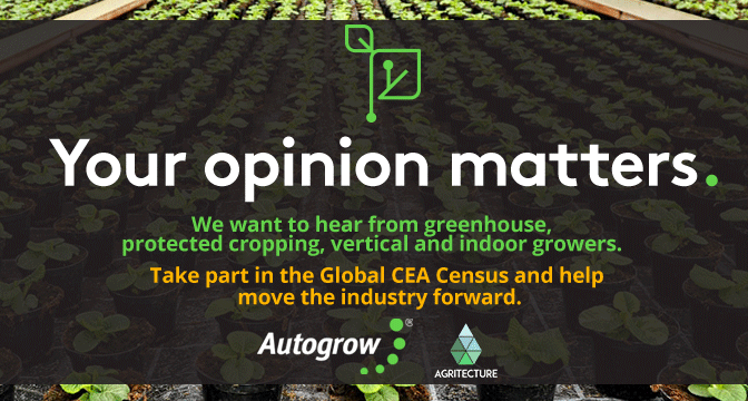 How Big is Controlled Environment Agriculture? Autogrow & Agritecture Launch the Global CEA Census to Find Out