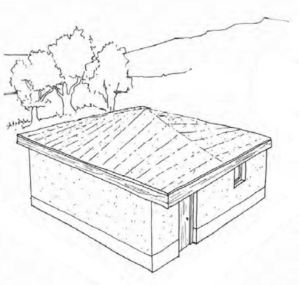 Soil stabilized housing with AggreBind