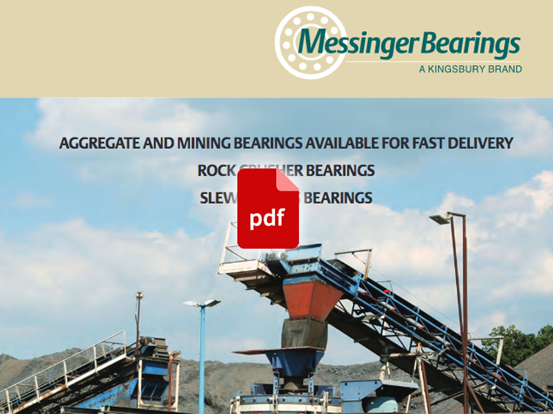 Crusher Bearings Brochure from Messinger | Aggregates and
