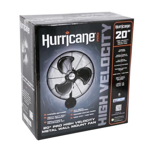 Hurricane Pro 20″ Metal Wall Mount Fan