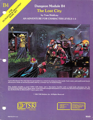 Mystara Monday: Module B4 - The Lost City