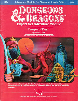 Mystara Monday: Module X5 - Temple of Death