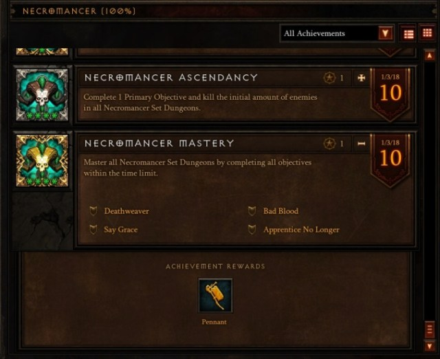 Necromancer Set Mastery