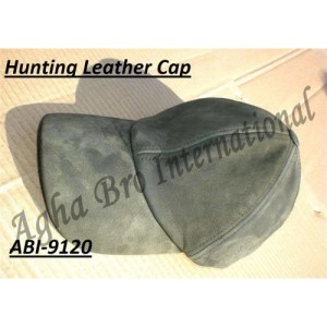 Leather Nubuck Hunting Cap (ABI-9120)