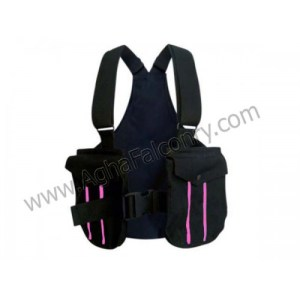 Falconry Olive Black with Pink Lines Cordura Vest (ABI-8902)