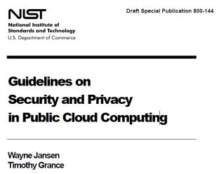 SaaS/PaaS/IaaS とセキュリティの責任範囲 - NIST