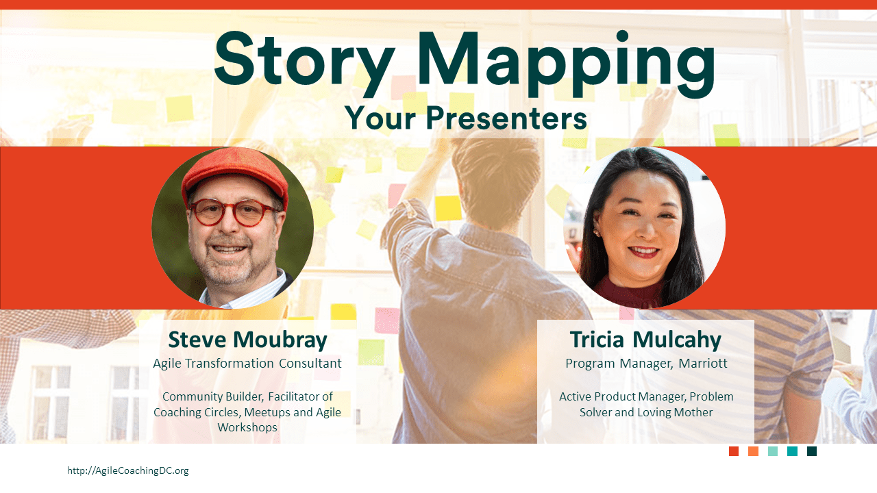 Steve Moubray and Tricia Mulcahy for Story Mapping Workshop