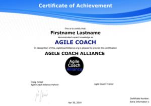 CAC - Certified Agile Coach