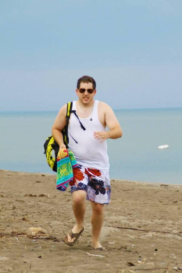 Enjoying a beach day