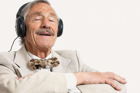 Image result for old person listening to music