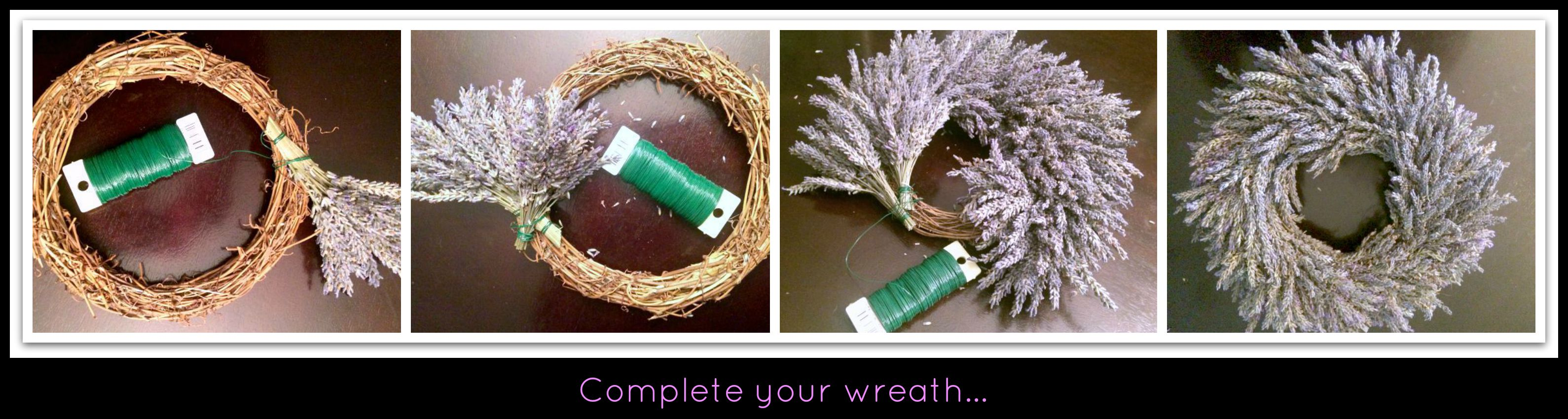 how to make a lavender wreath