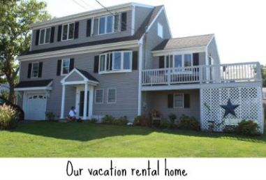 Vacation home with caption