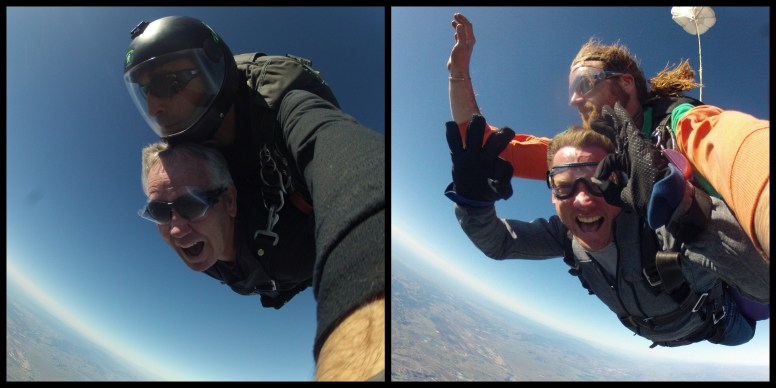 skydiving - free fall collage 1