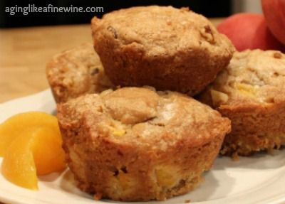 Moist and Mouthwatering Sour Cream Peach Muffins