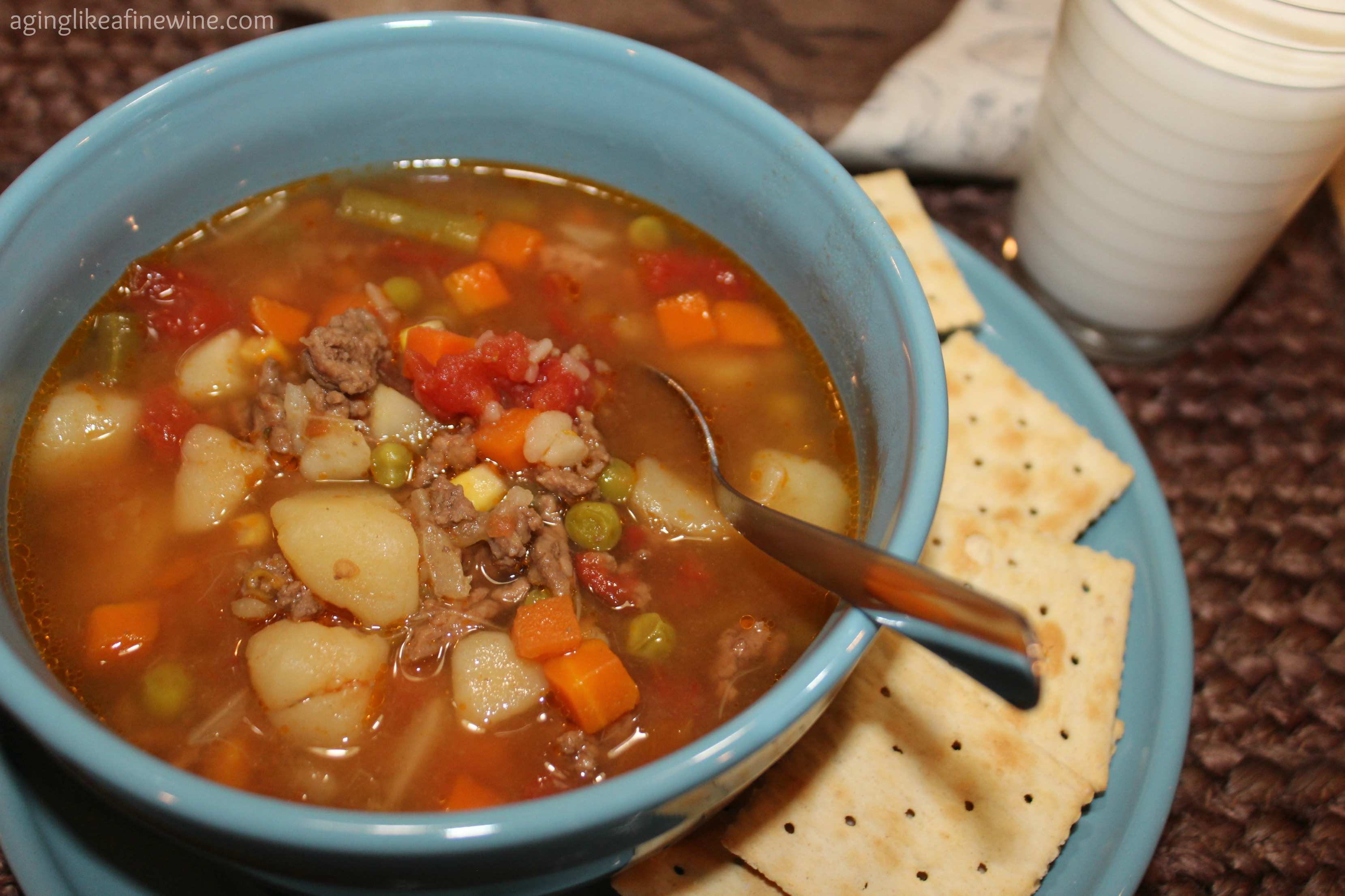 Homemade Vegetable Soup, warm comfort food!      (by Aging Like a Fine Wine)
