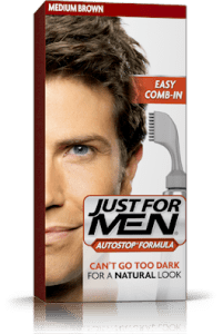 This dude uses Just For Men Comb in