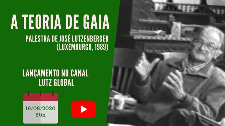 Lançamento de vídeo inédito com palestra de José Lutzenberger sobre a Teoria de Gaia
