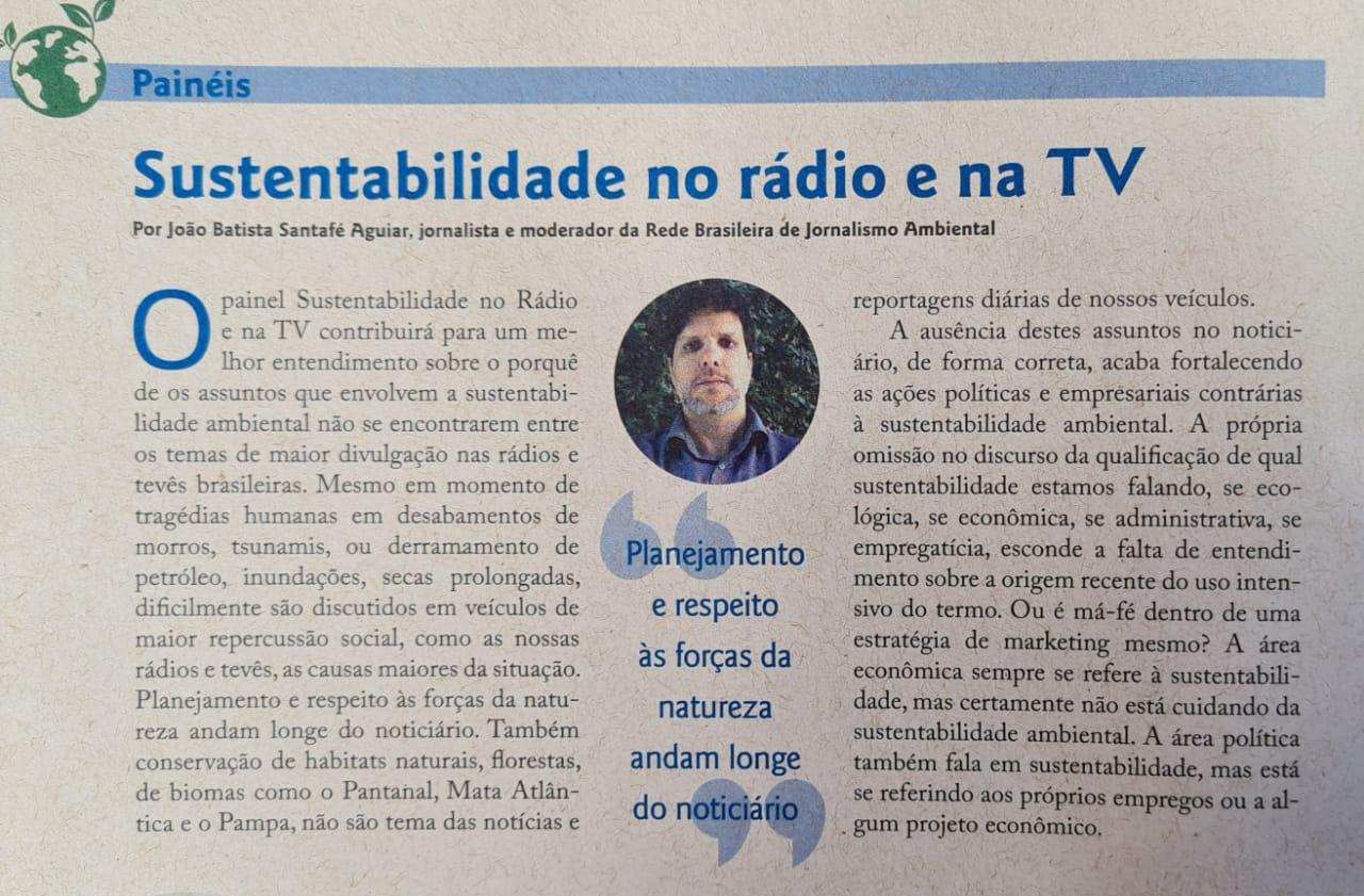 Sustentabilidade no rádio e na TV