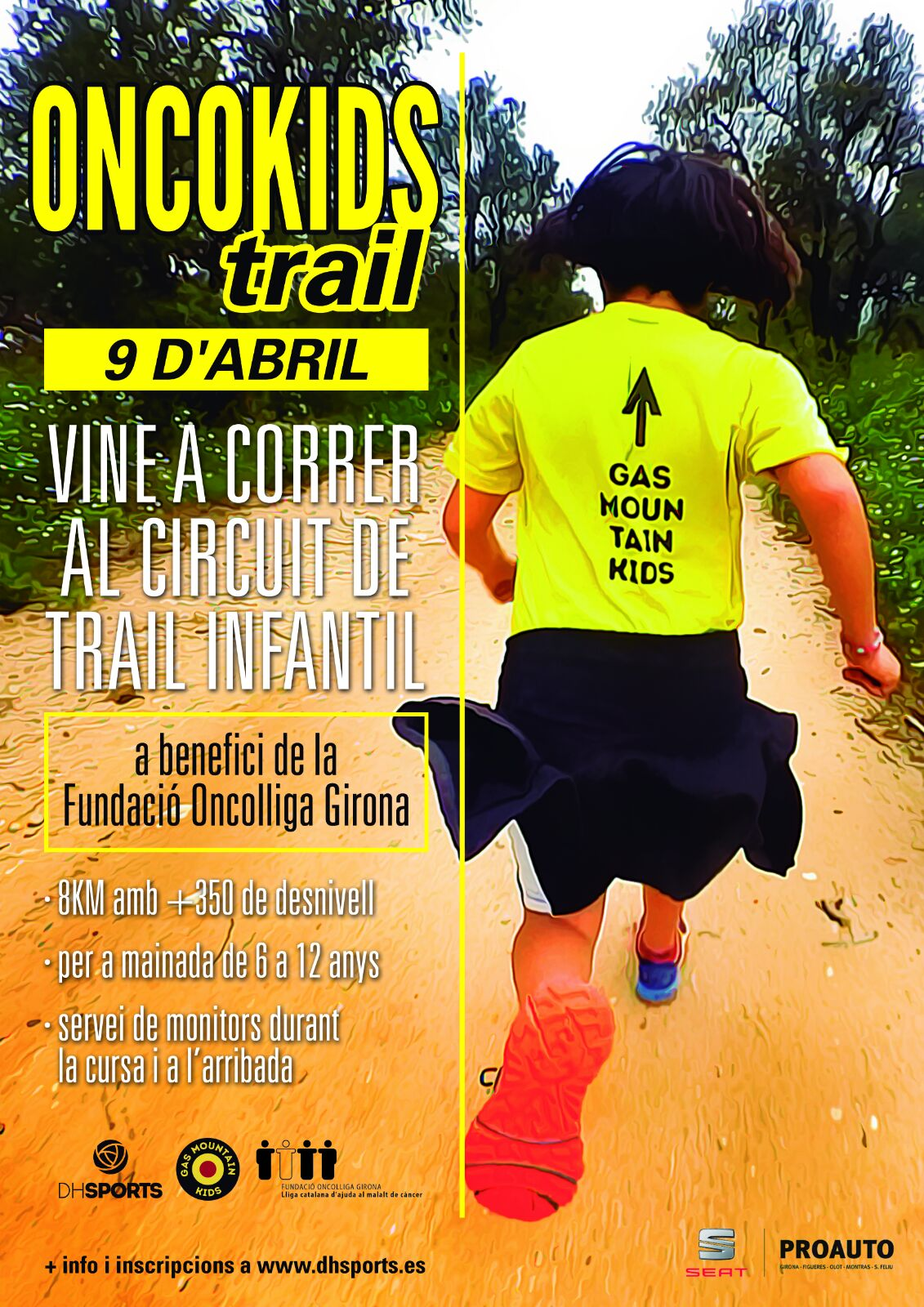 Rescator Roses Oncokids Trail pic de l'aliga