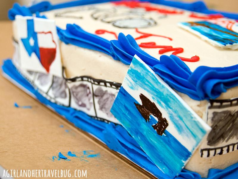 Travel Photography Birthday Cake