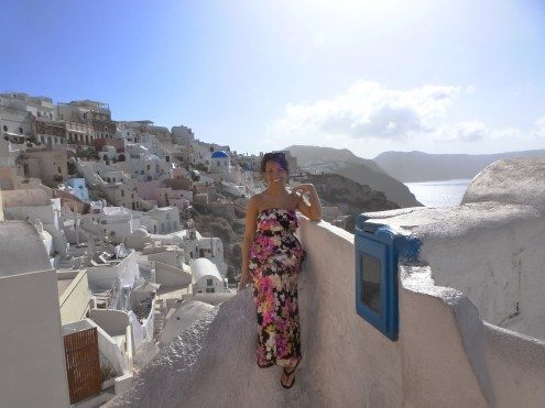 Santorini has to main cities, Oia and Fira. This is the famous Oia.
