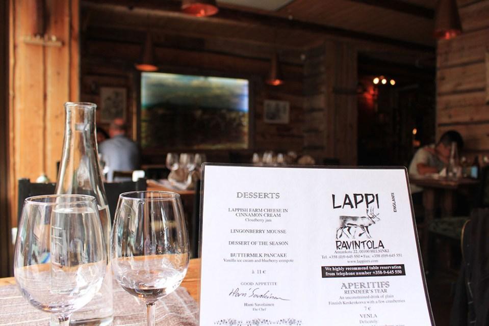 lappi restaurant finland menu join tour