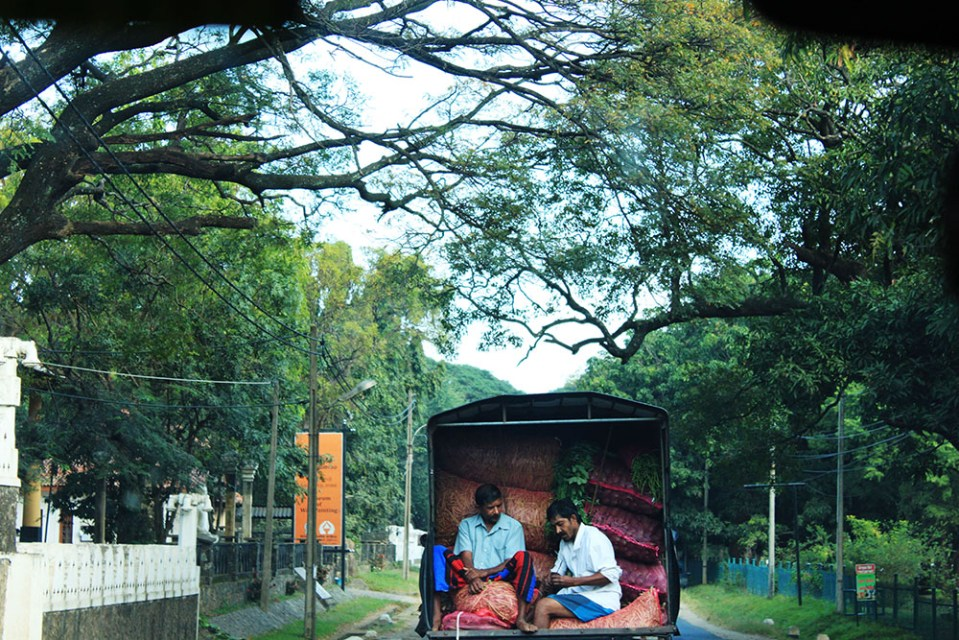 a truck is on the way to M.P.S. Village Sri Lanka