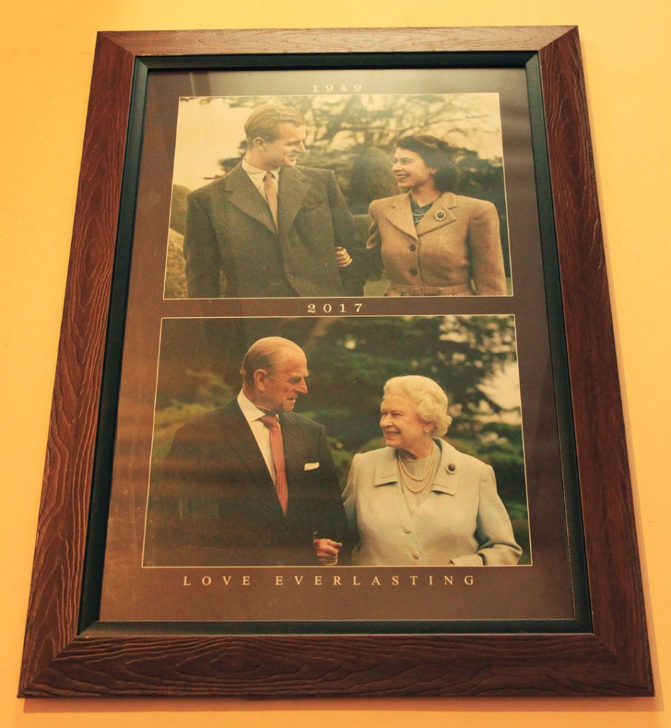 Queen Elizabeth II photos at the hill club nuwara eliya sri lanka