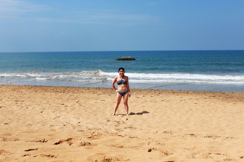 fit girl in bikini at bentota beach sri lanka lonely planet top destination 2019
