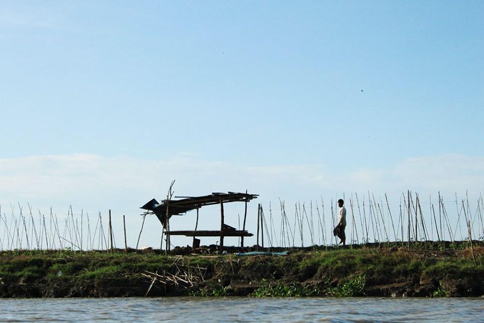 local culture at tempe lake indonesia fisherman