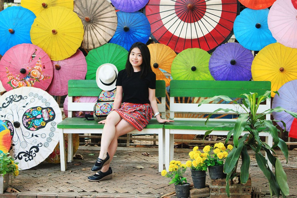 bright colours and patterns umbrella chiang mai soul therapy