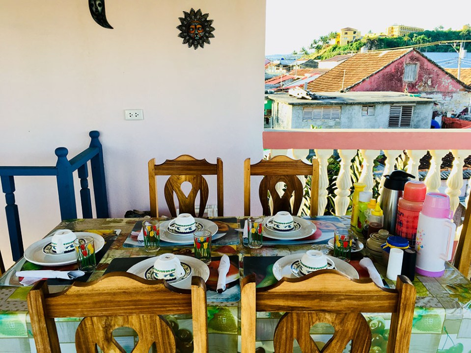 rooftop breakfast in cuba
